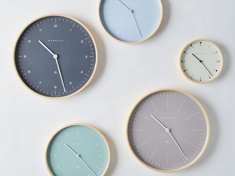 Wall clock bridal shower gift idea