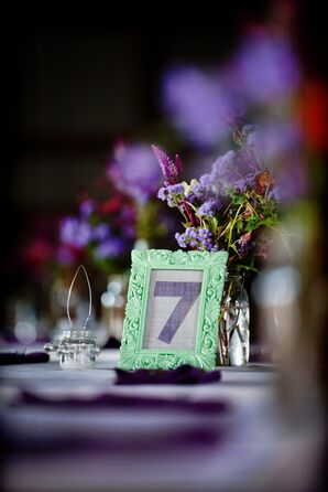 Framed Burlap Table Numbers