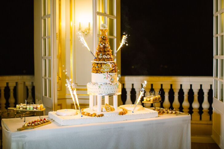 Traditional French Croquembouche Wedding Cake