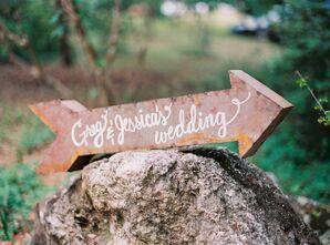 Rustic Metal Arrow Wedding Sign