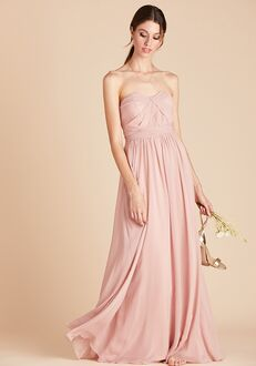 Birdy Grey Grace Convertible Dress in Rose Quartz Sweetheart Bridesmaid Dress