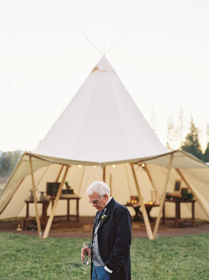 Dinner stations were served out of individual tepees-inspired tents.