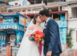 The colorful culture of Guatemala inspired LuisanaSuegart and Jeremy Cruz's destination wedding. A fun, personalized reception at the boutique Casa P