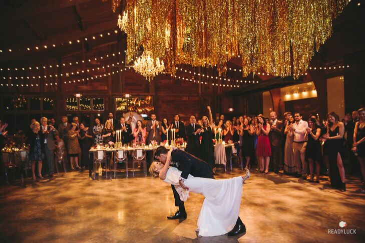 """A 12-piece band kept the party going all night. """"Everyone happily danced the night away,"""" Amy says."""