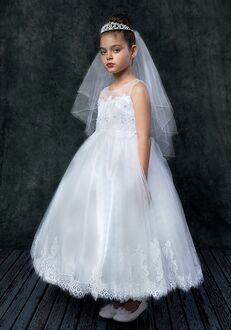 Kid's Dream 7007 White,Ivory Flower Girl Dress