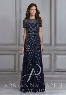 Adrianna Papell Platinum 40107 Illusion Bridesmaid Dress