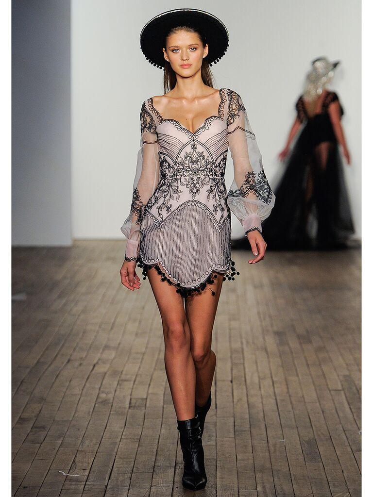 hayley paige wedding dress gray mini dress