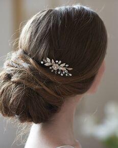 Dareth Colburn Aubrey Freshwater Pearl Hair Pin (TP-2829) Silver Pins, Combs + Clip