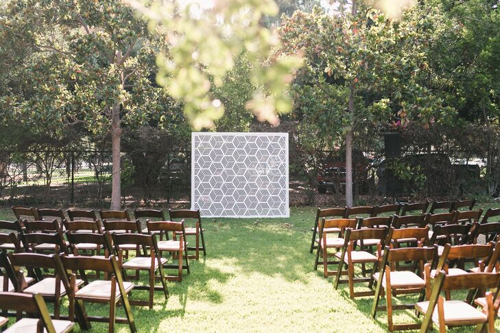 Geometric Ceremony Backdrop