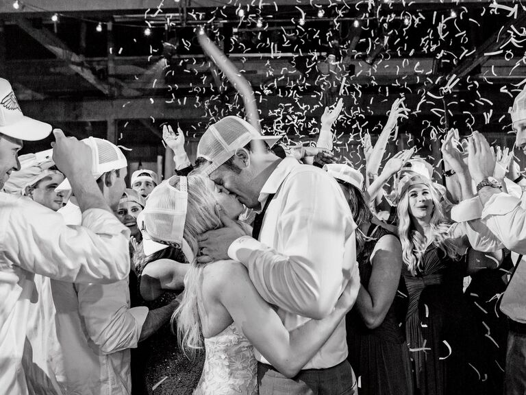 wedding after party confetti