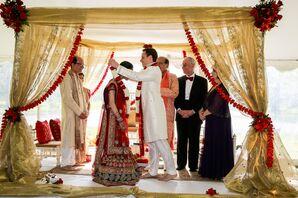 Traditional Hindu Ceremony at Interfaith Wedding