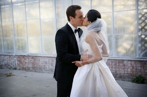 Newlyweds at Philadelphia Horticultural Center Reception
