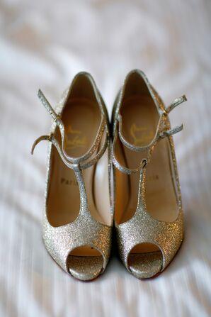 Shimmery Gold Christian Louboutin Heels