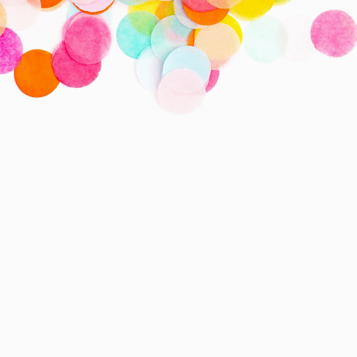 colorful tissue paper confetti
