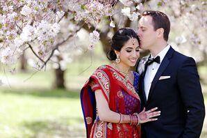 Newlyweds at Their Spring Wedding in Philadelphia