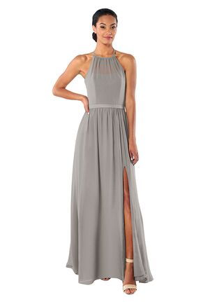 Brideside Brideside Samantha in Earl Grey Illusion Bridesmaid Dress