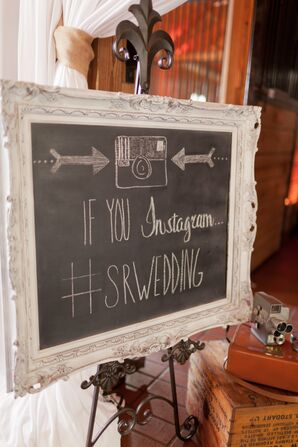 Chalkboard Instagram Sign