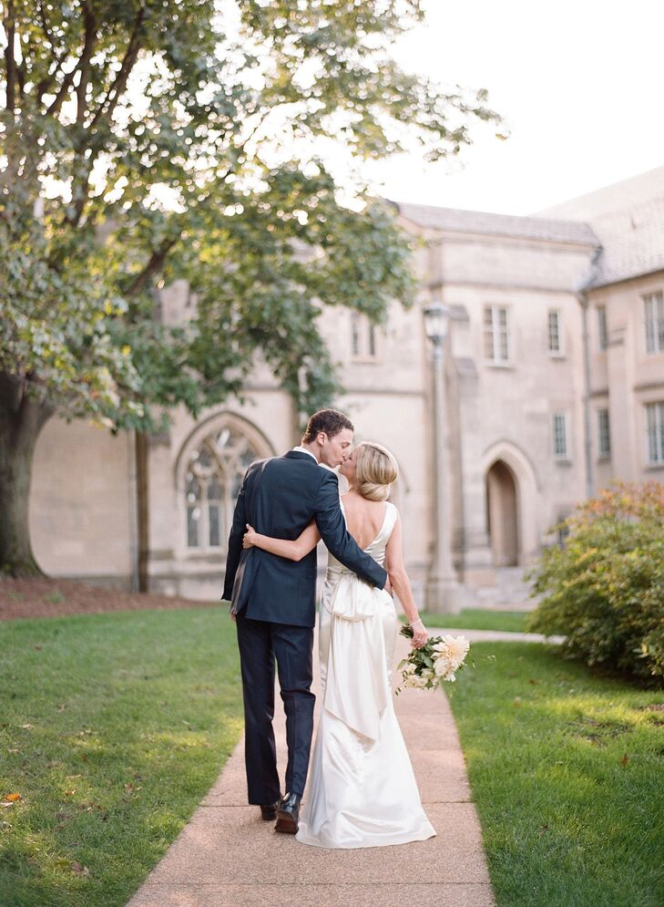 Couple on the Grounds of the Washington National Cathedral