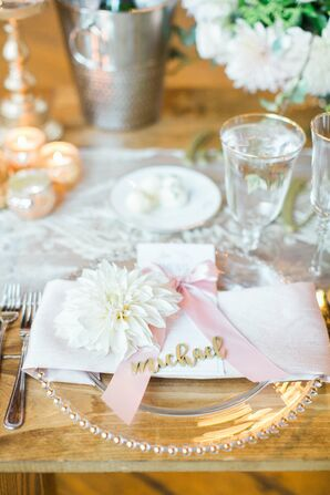 Blush Place Setting with Pink Bow