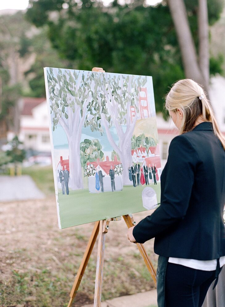 Live Painter at Reception