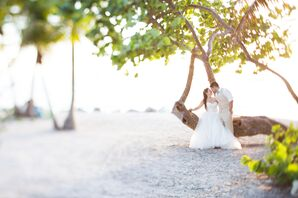 Romantic Pose on the Beach of Key West, Florida