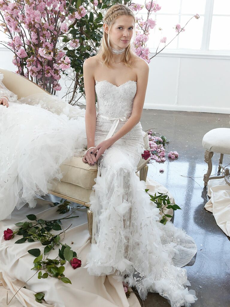 Marchesa Notte Bridal Spring 2018 Strapless Sweetheart Wedding Gown With A Ed Corset Bodice