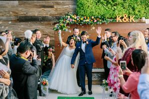Boho Ceremony with Bubble Release for Recessional