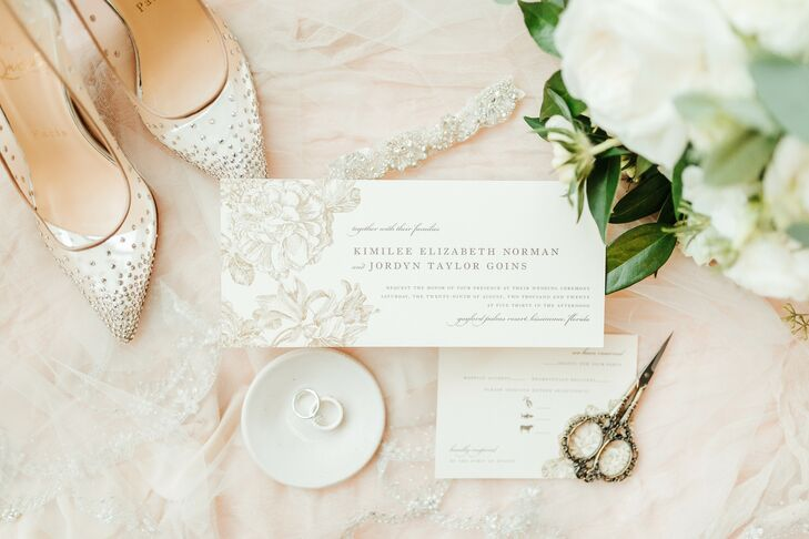Romantic Invitation for Wedding at Gaylord Palms Resort in Orlando, Florida