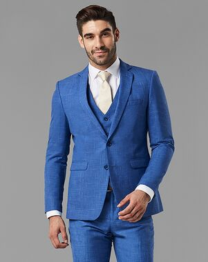 Generation Tux Indigo Blue Notch Lapel Suit Blue Tuxedo