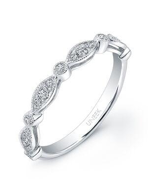 Uneek Fine Jewelry UWB013 White Gold Wedding Ring