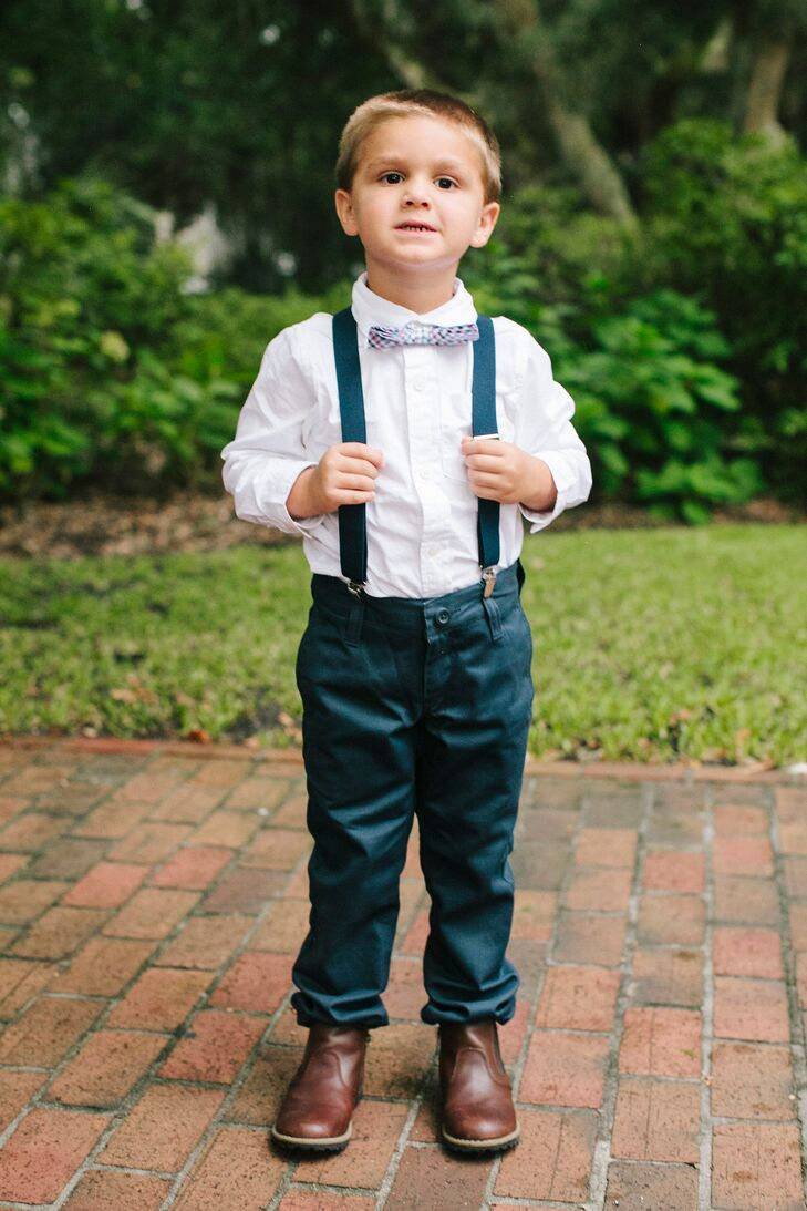 22ea80cb9 Navy Pants and Bow Tie Ring Bearer Attire