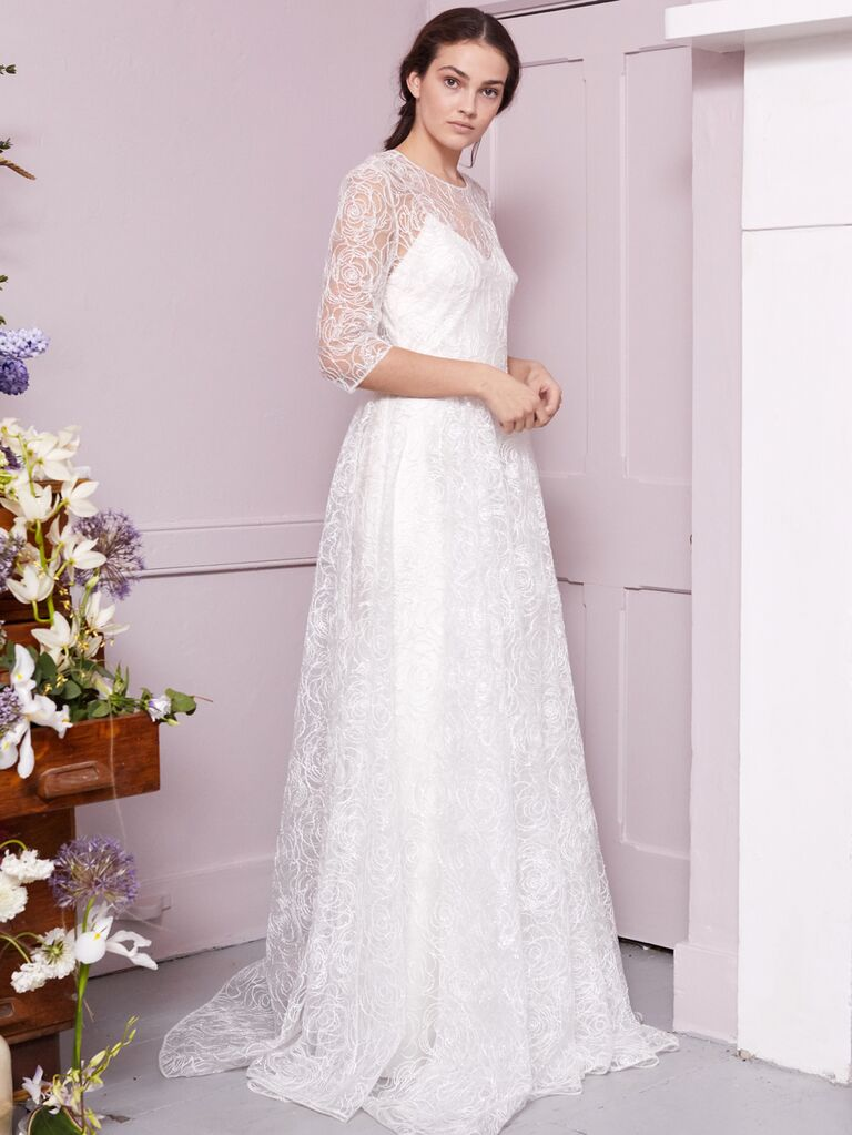 Halfpenny London 2020 Bridal Collection all-over lace A-line wedding dress