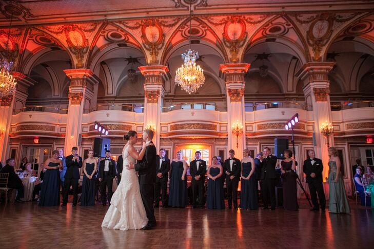 """On the dance floor, Stephanie made sure each guest received a mini chocolate chip cookie dough ice cream cone. """"It's my go-to dessert,"""" Stephanie says."""