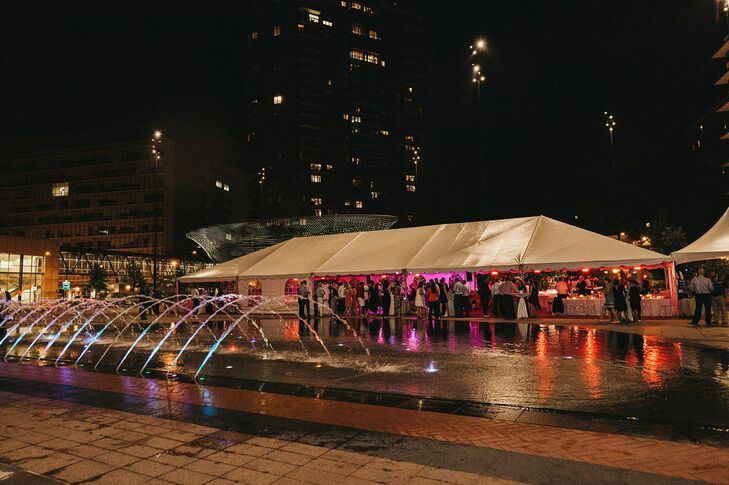 Tented Cowles Commons Reception