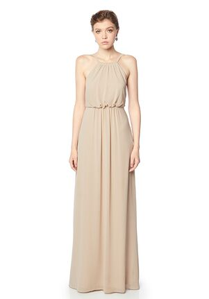 #LEVKOFF 7138 Halter Bridesmaid Dress