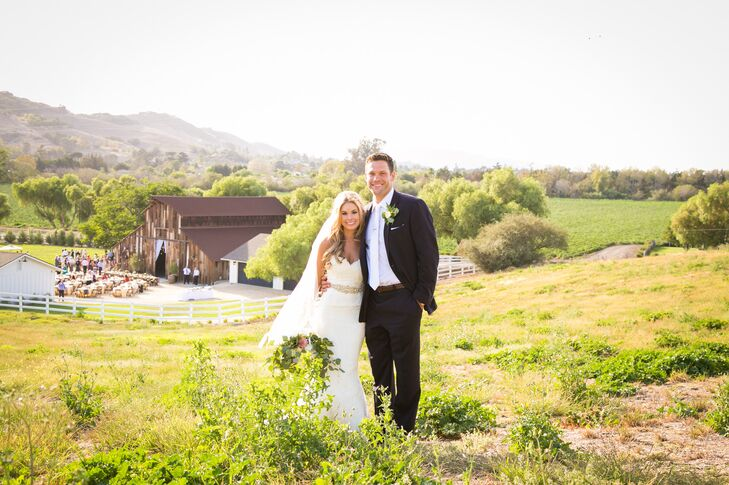 Family and friends gathered for the wedding of Lindsey Cruz (26 and an executive assistant) and Bobby Crocker (25 and a fitness entrepreneur) in sceni