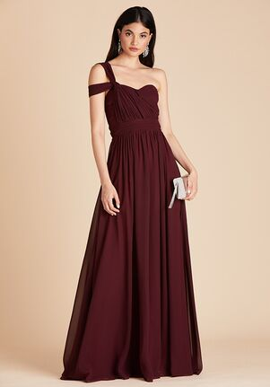 Birdy Grey Grace Convertible Dress in Cabernet Strapless Bridesmaid Dress