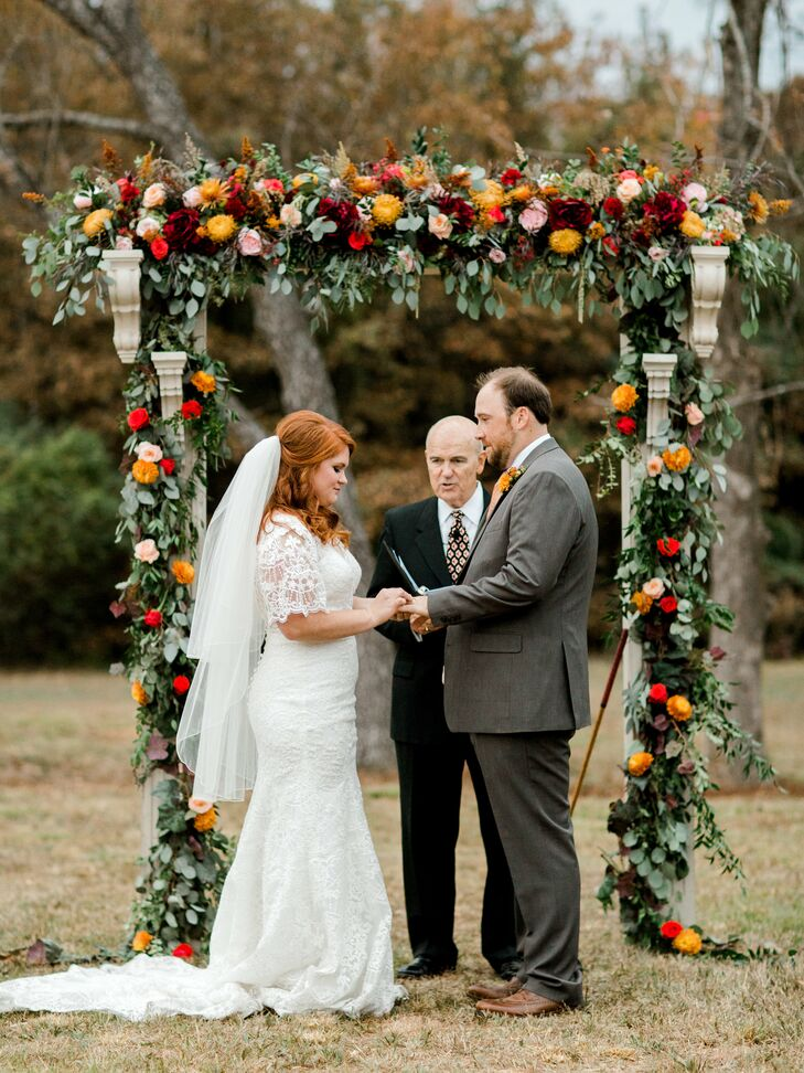 Autumnal Eucalyptus Wedding Arch