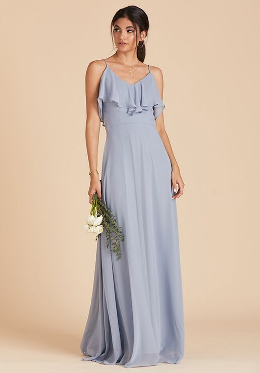 Birdy Grey Jane Convertible Dress in Dusty Bllue V-Neck Bridesmaid Dress