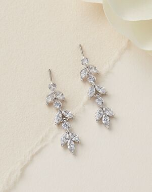Dareth Colburn Sydney Floral CZ Earrings (JE-4140) Wedding Earring photo