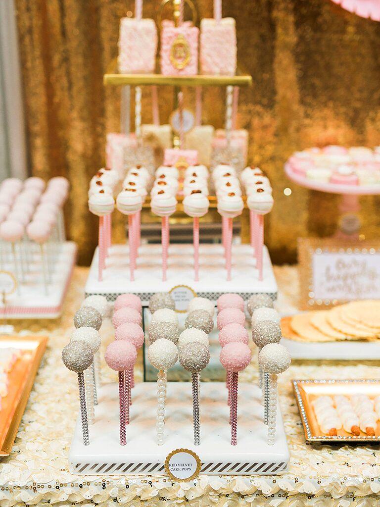 Cake pop wedding desserts