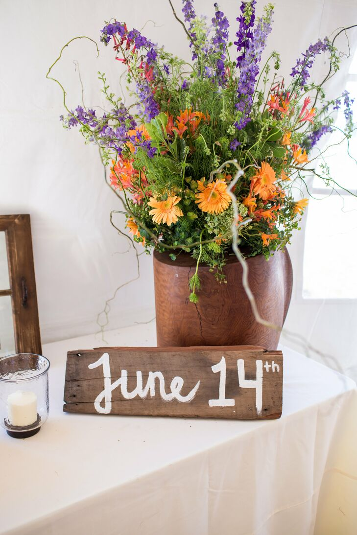 Bright Wildflower Arrangements and Hand-painted Signs