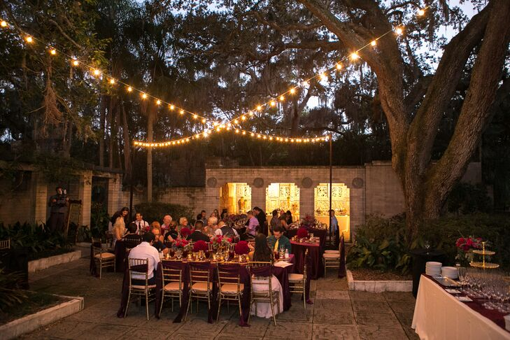 Intimate Outdoor Reception at Art and History Museums Maitland