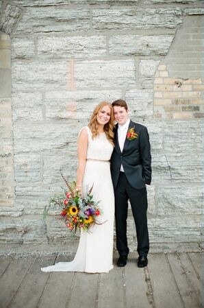 Beaded Jenny Packham Sheath Wedding Dress