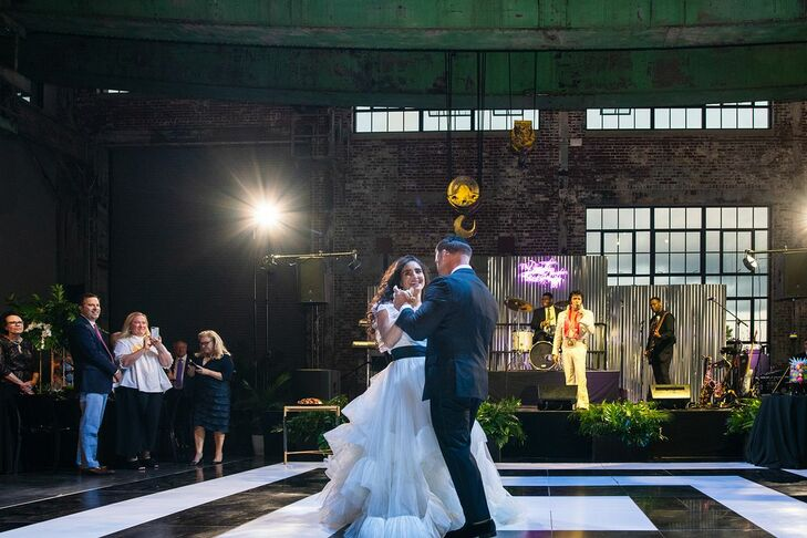 Modern First Dance at Waterfire Events Center in Providence, Rhode Island