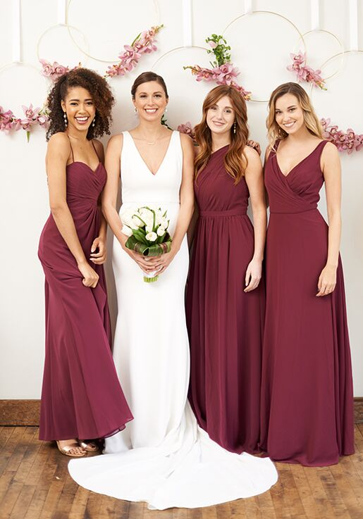 349616ba2e Brideside Rachel In Berry Bridesmaid Dress The Knot. Introducing Berry And Purple  Hued Bridesmaid Dresses From Revelry
