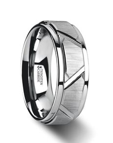 Mens Tungsten Wedding Bands W3073-TCRC Tungsten Wedding Ring