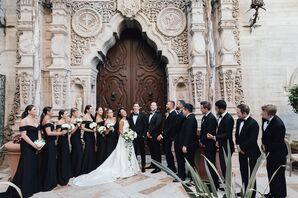 Elegant Wedding Party at The Mission Inn Hotel & Spa in Riverside, California
