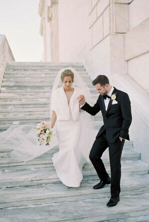 Bride and Groom at Detroit Institute of Arts Wedding