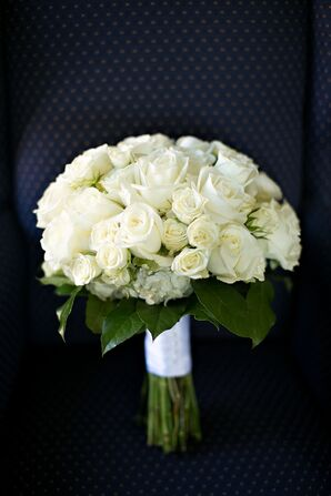 Classic Ivory Rose Bridal Bouquet